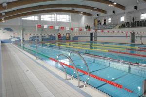widok na tory pływackie